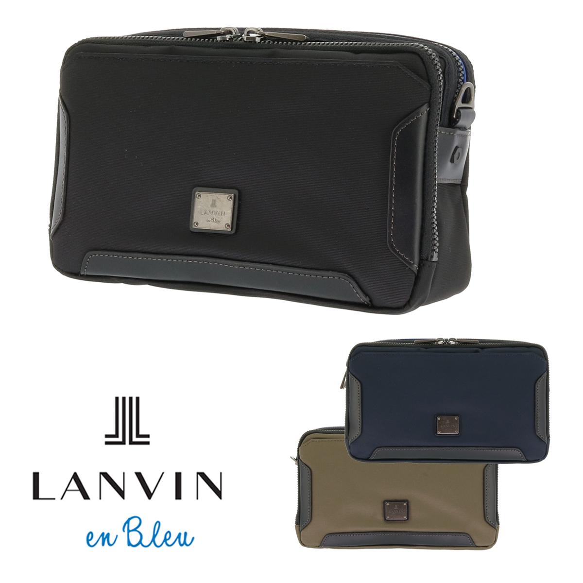 ランバンオンブルー ミニショルダーバッグ 2WAY メンズ サイド 571111 軽量 セカンドバッグ LANVIN en Bleu[bef][PO10]