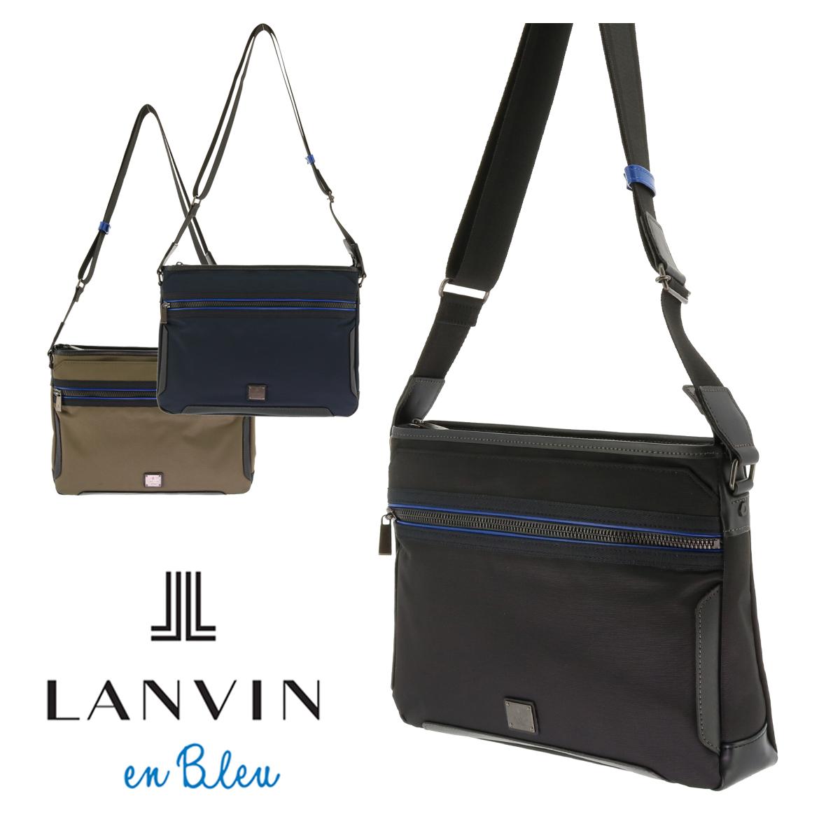 ランバンオンブルー ショルダーバッグ メンズ サイド 571112 軽量 ビジネスバッグ LANVIN en Bleu[bef][PO10]