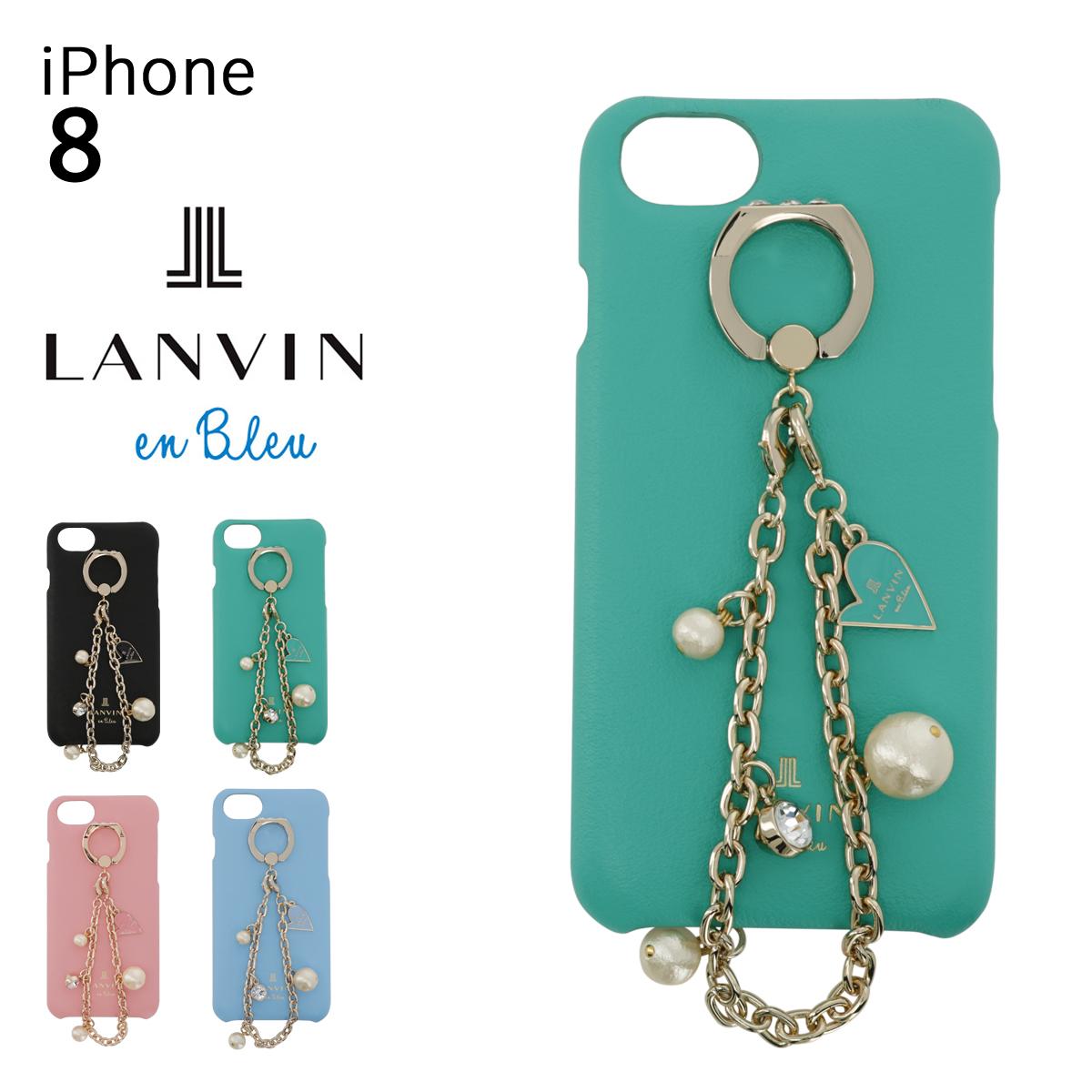 ランバンオンブルー スマホケース iPhone8 エクラン レディース 482783 LANVIN en Bleu   スマホカバー 牛革 本革 レザー[PO10][即日発送]