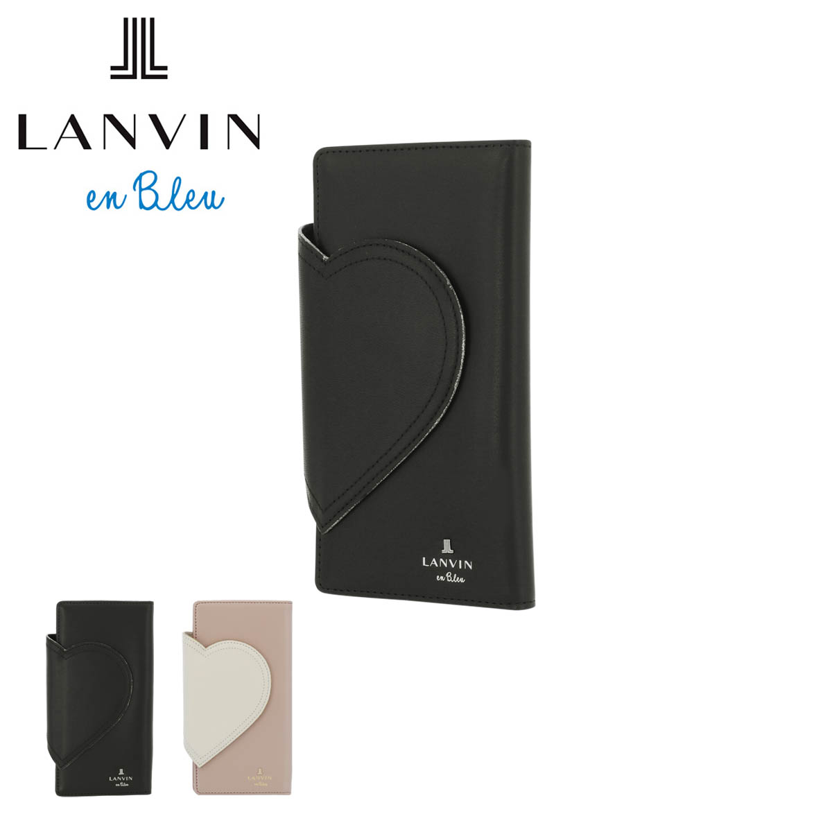 ランバンオンブルー スマホケース ジェーン 手帳型 全機種対応 レディース 482801 LANVIN en Bleu | カード収納 ミラー付き 牛革 本革[PO10][bef][即日発送][母の日]