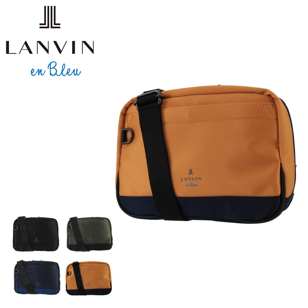 ランバンオンブルー ショルダーバッグ アルピーヌ メンズ 547101 日本製 LANVIN en Bleu | コンパクト 本革 レザー [bef][PO10]