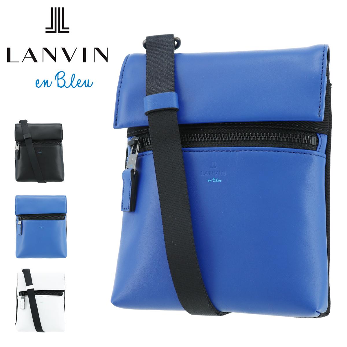 ランバンオンブルー ショルダーバッグ レオ メンズ 583111 LANVIN en Bleu | ミニショルダー 斜め掛け 牛革 本革 レザー[PO10]