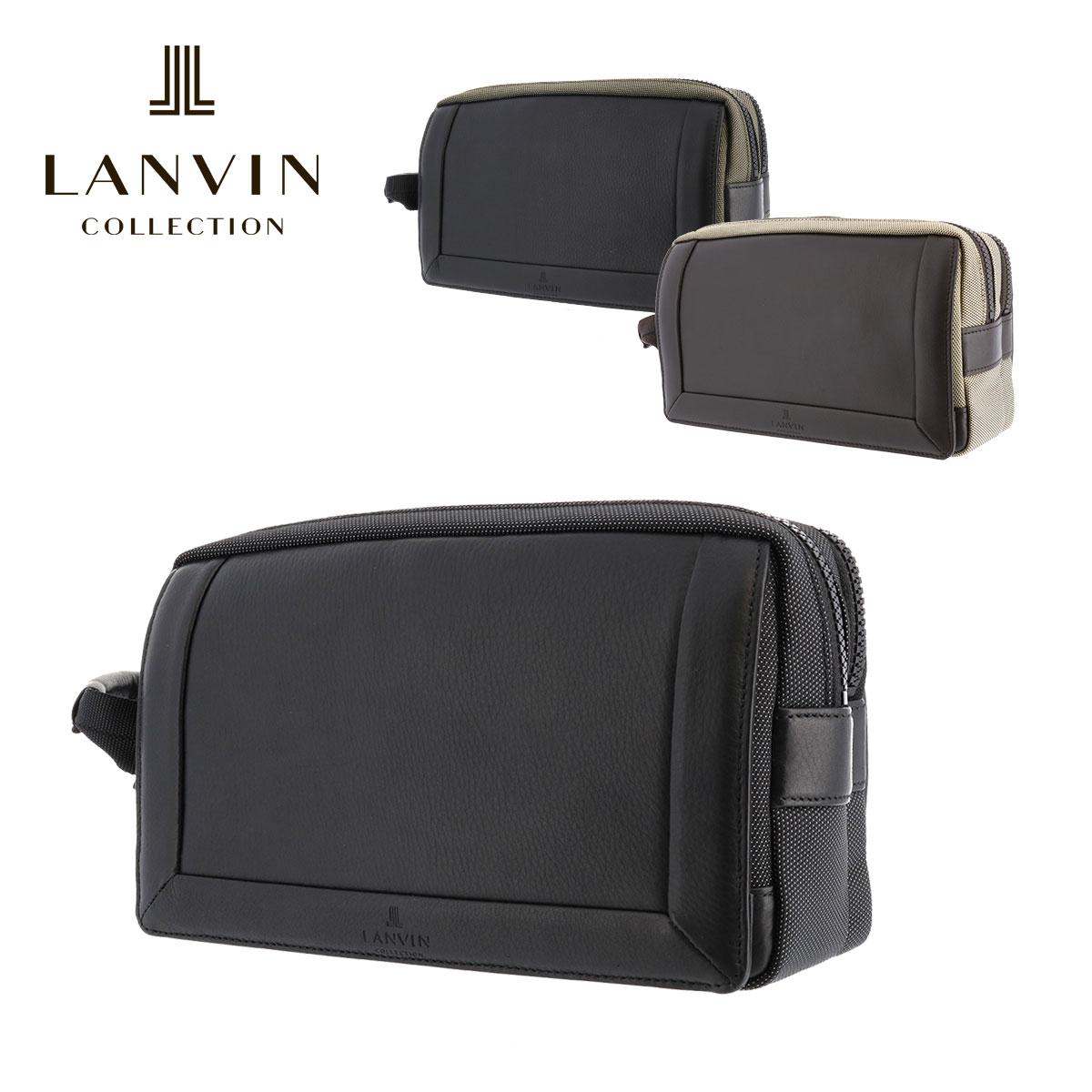 ランバンコレクション セカンドバッグ アクタス メンズ 289202 日本製 LANVIN COLLECTION | ナイロン 本革 レザー【PO5】