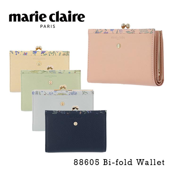 22adbe52319a 送料無料 マリクレール 二つ折り財布 がま口 レディース フルールウィリアム 88605 マリ・クレール marie