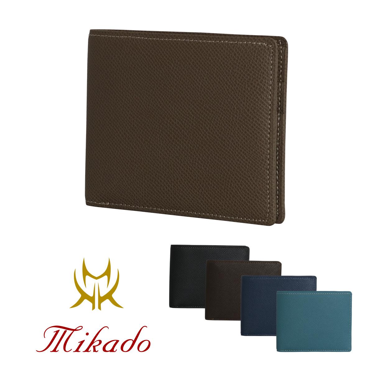 Mikado 二つ折り財布 小銭入れなし メンズ ワープロラックス 日本製 727016 ミカド レザー [PO5][bef][即日発送]