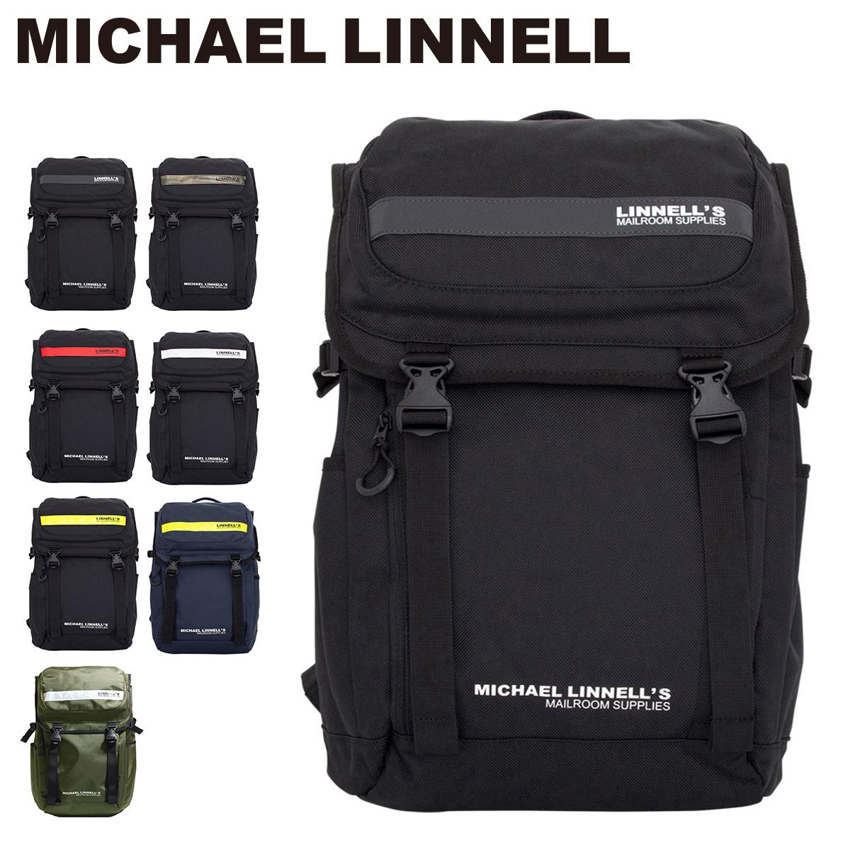 マイケルリンネル MICHAEL LINNELL リュック ML-018 【 リュック リフレクター 1680デニールの丈夫なポリエステル ダブルバックル 大容量27L 】【PO10】【bef】【即日発送】