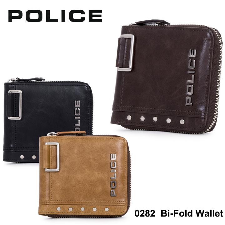 ポリス 二つ折り財布 PA58601 (0282) POLICEAvoid II アボイド2 ラウンドファスナー メンズ 財布 [PO10][bef]