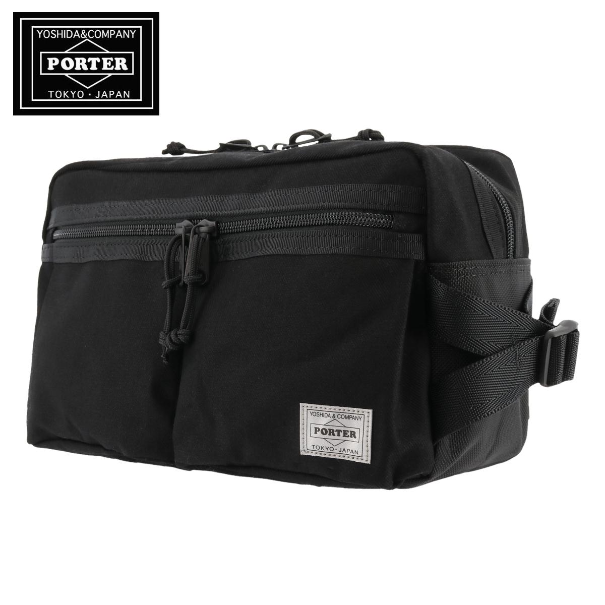 Used Yoshida Porter 622-08302 Tanker Waist Bag L Black F//S from Japan