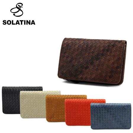 ソラチナ 二つ折り財布 メンズ メッシュ 36092 SOLATINA ホースレザー [PO10][bef]