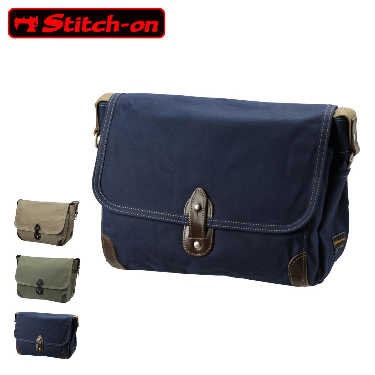 ステッチオン ショルダーバッグ 帆布シリーズ メンズ 52204 日本製 Stitch-on | 斜めがけ 豊岡 10号帆布[PO10][bef]