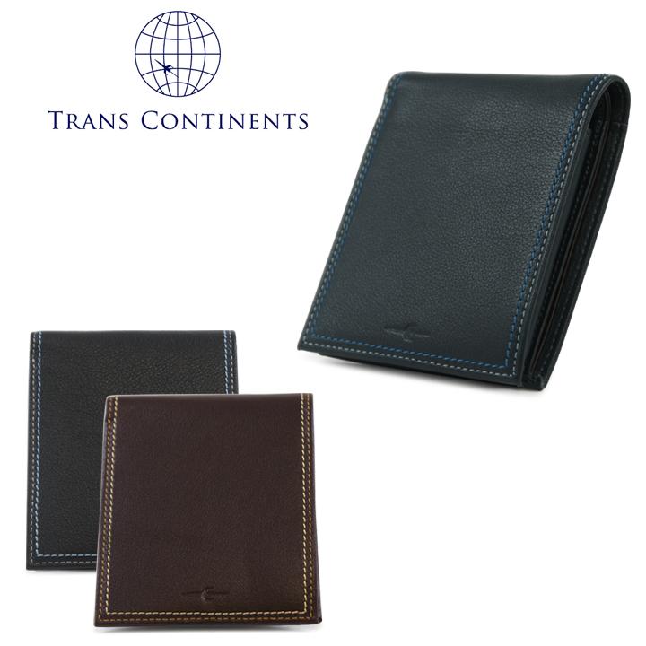 トランスコンチネンツ 二つ折り財布 メンズ レディース tc512016 カラーコーディネートシリーズ 本革 レザー TRANS CONTINENTS [PO5][bef][即日発送]