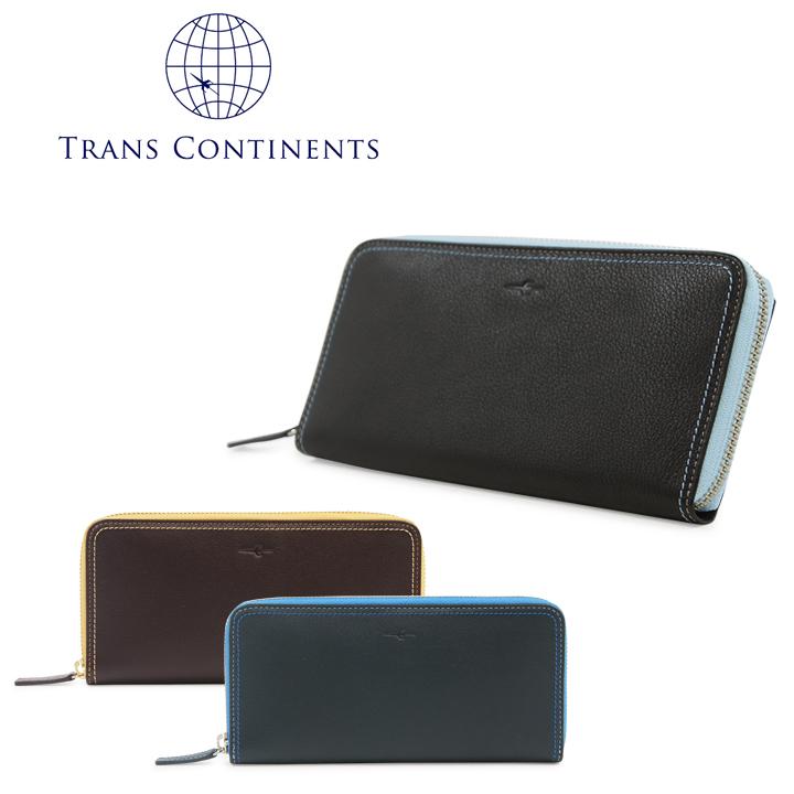 トランスコンチネンツ 長財布 ラウンドファスナー メンズ レディース tc515016 カラーコーディネートシリーズ 本革 レザー TRANS CONTINENTS [PO5][bef][即日発送]