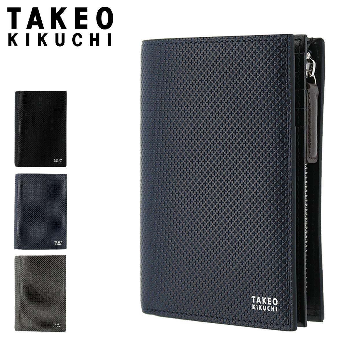 タケオキクチ 二つ折り財布 L字ファスナー バース メンズ 706625 TAKEO KIKUCHI | 本革 レザー ブランド専用BOX付き[PO5][bef]