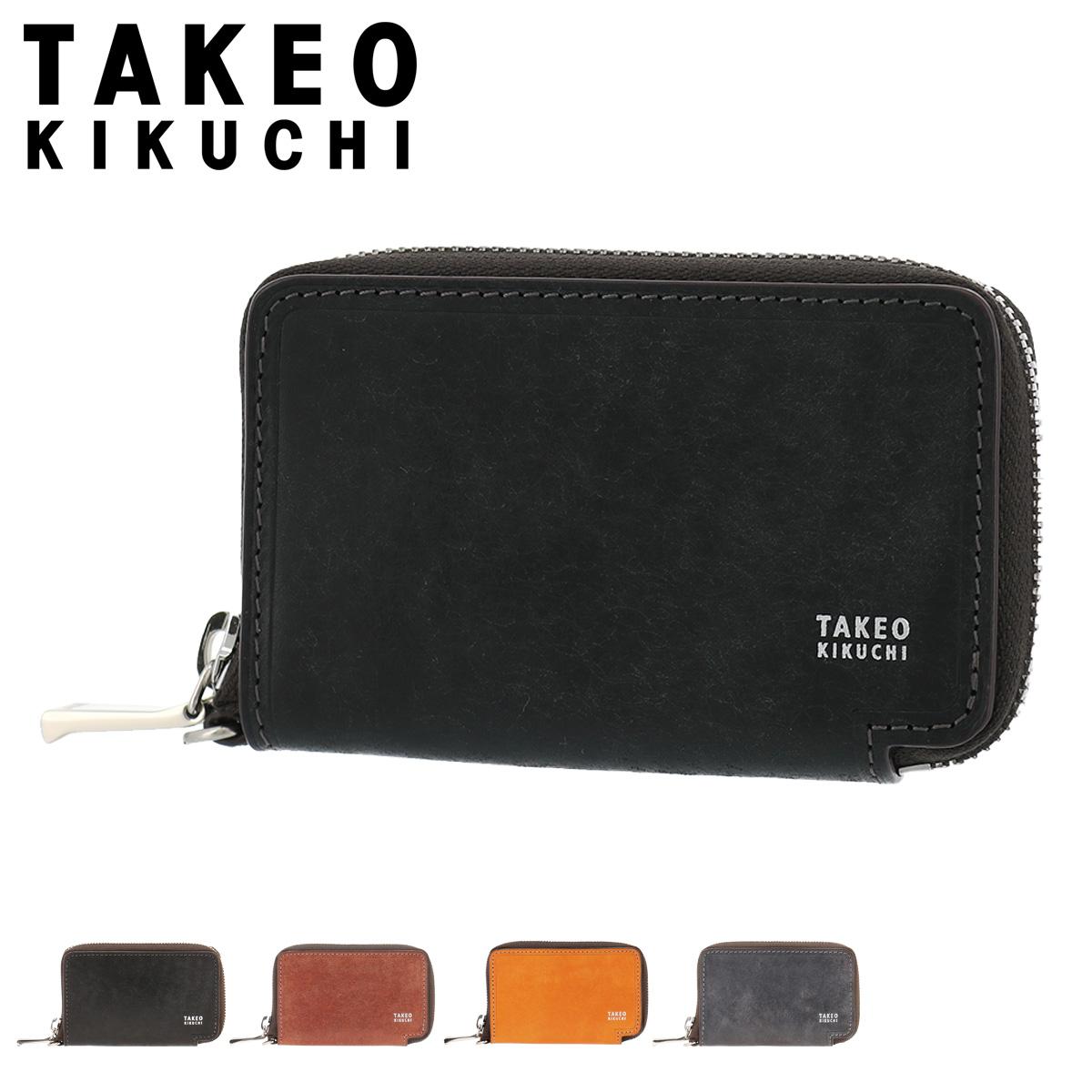 タケオキクチ 財布 小銭入れ ラウンドファスナー マルゴ メンズ 780601 TAKEO KIKUCHI | コインケース 牛革 本革 レザー [PO5][bef]