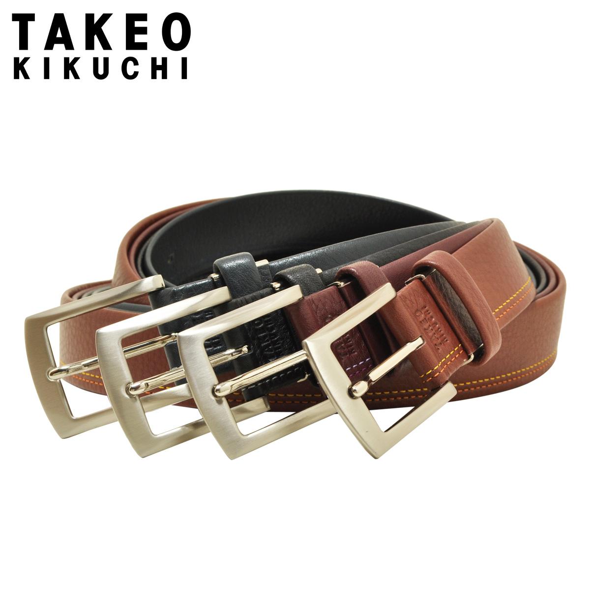 タケオキクチ ベルト ピンタイプ メンズ 4100120 日本製 TAKEO KIKUCHI|アンティーク調 ビジネス カジュアル フォーマル 牛革 本革 レザー[即日発送][PO5]
