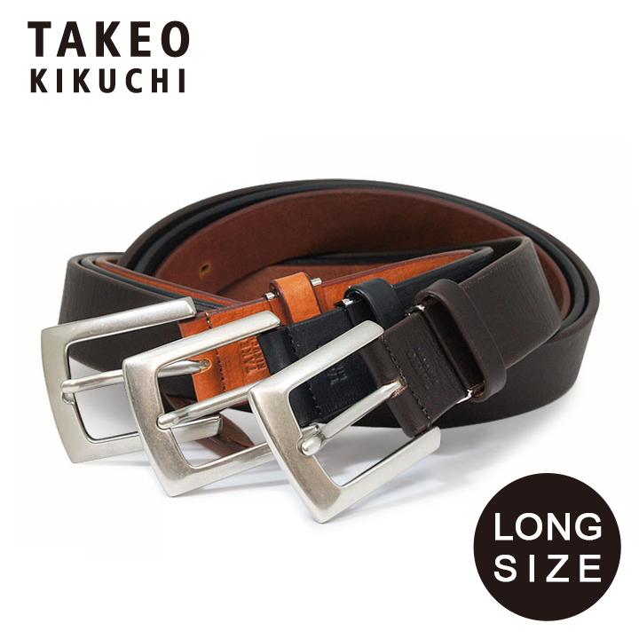 タケオキクチ ベルト ロングサイズ メンズ 808013L TAKEO KIKUCHI 日本製|大きいサイズ ビジネス カジュアル フォーマル 牛革 本革 レザー [PO5][bef][即日発送]