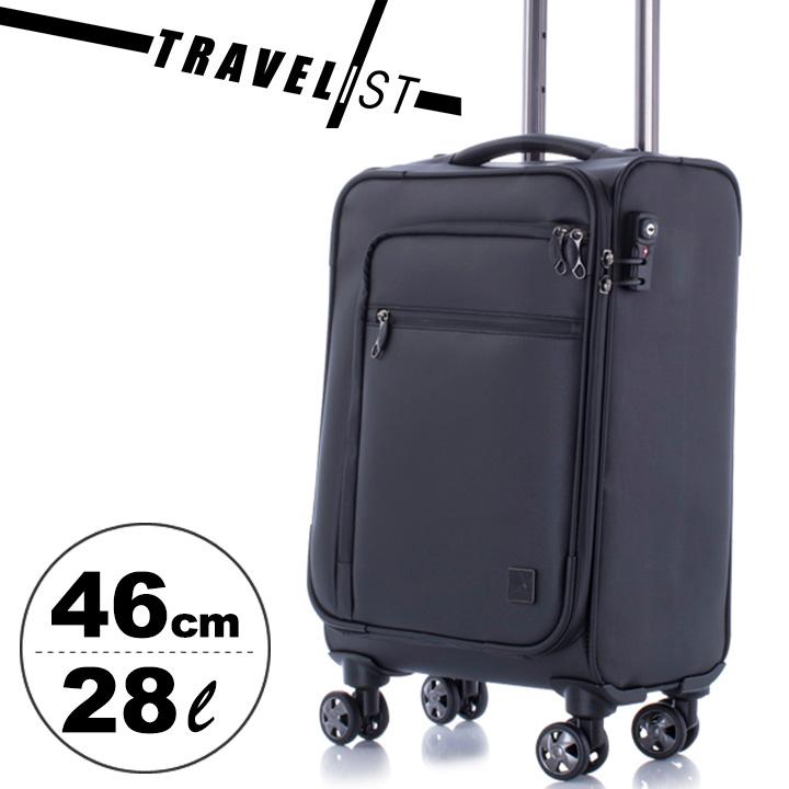 トラベリスト TRAVELIST スーツケース 76-5006 46cm 【 ビジネスソフトキャリー4輪 】【 機内持ち込み可 】【 キャリーケース キャリーカート 】【 TSAロック搭載 】[PO10][bef]