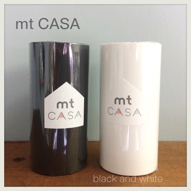 マスキングテープ 幅広 mt CASA 白黒 マットホワイト・マットブラック 100mm×10m巻1P