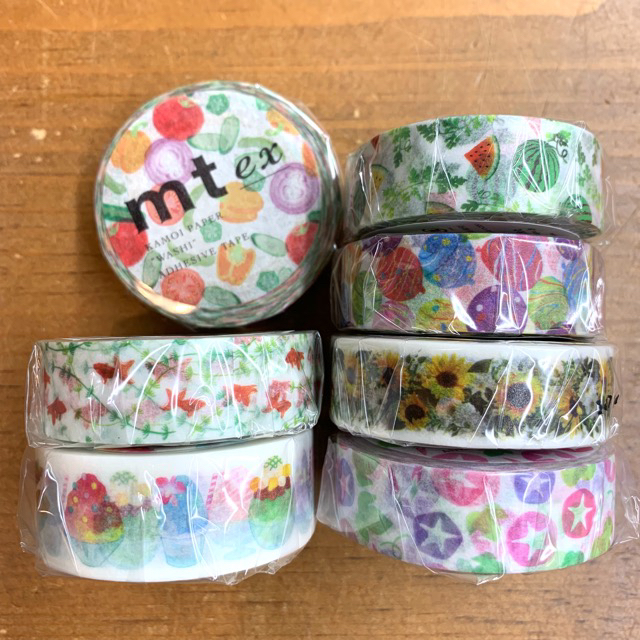アウトレット 夏らしい柄を集めました mt exシリーズ ショップ 夏 サマーセット 金魚 かき氷など マスキングテープセット 夏野菜 7個入