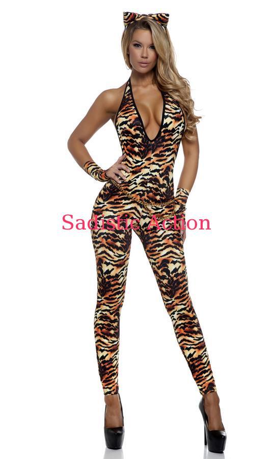 【即納】Forplay Tantalizing Tigress Sexy Cat Costume 【Forplay (ダンスウェア、衣装、コスチューム、小物)】【ハロウィンコスチューム】【FOR-CO-553703】