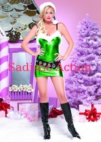 【即納】Leg Avenue 3Pc. Hot Rot Elf GN 【Leg Avenue (ストッキング、ランジェリー、衣装、コスチューム、小物)】【クリスマスコスチューム】【LEG-CR-83606-GN】