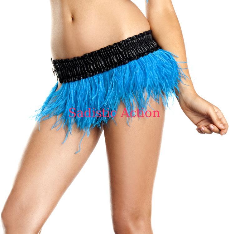 【即納】BE WICKED!Ostrich Feather Skirt TUR 【BE WICKED!】【BE-DW-BW1500-TUR】