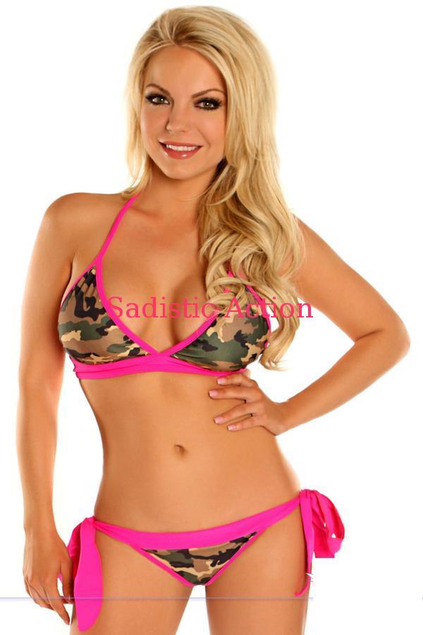 即納 Daisy Corsets Camouflage Pucker Back BikiniDaisy CorsetsQstCrdxh