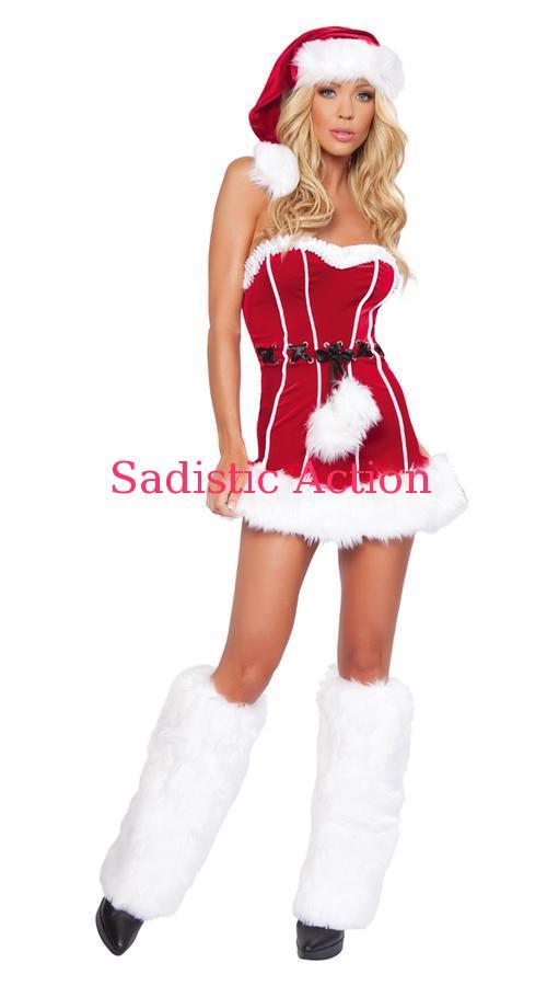 【即納】ROMA Naughty Santa Mini Dress 【ROMA (ダンスウェア、衣装、コスチューム、小物)】【クリスマスコスチューム】【RM-CR-C143】