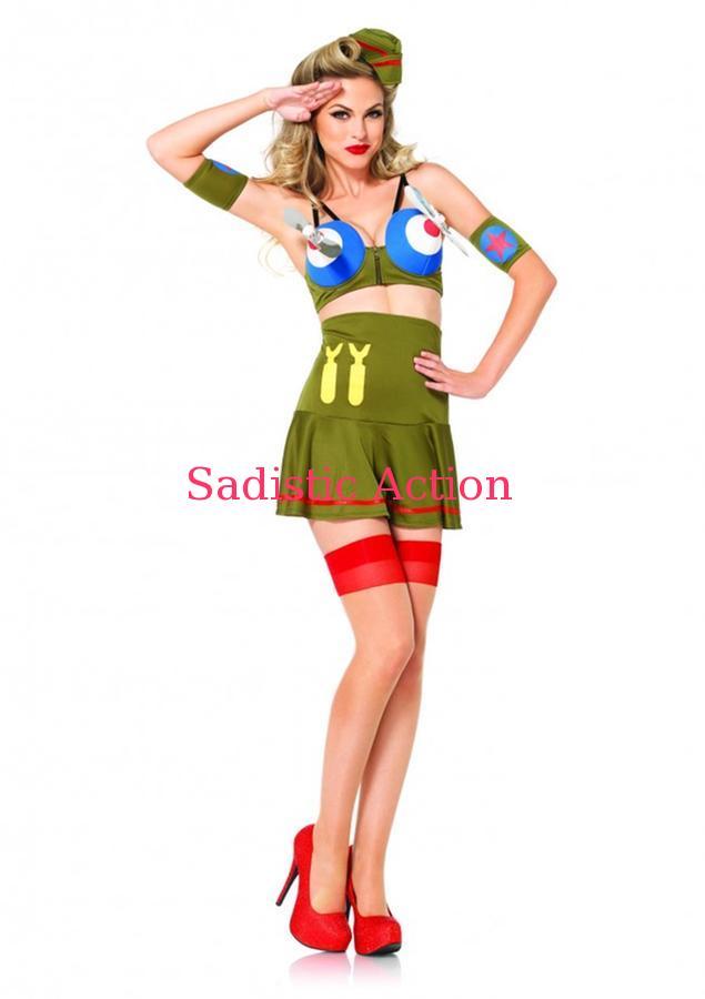 【即納】Leg Avenue BOMBER GIRL 【Leg Avenue (ストッキング、ランジェリー、衣装、コスチューム、小物)】【ハロウィンコスチューム】【LEG-CO-85184】