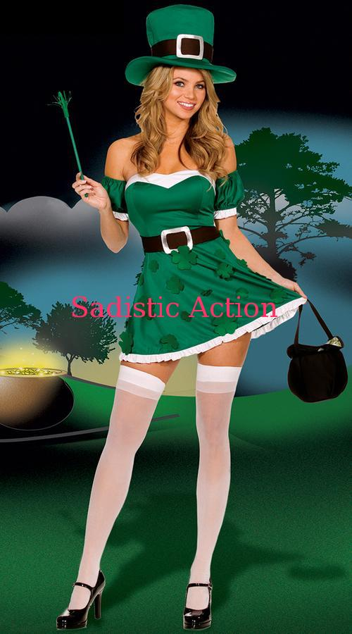 【即納】Dreamgirl Irish Cutie - 6 Piece set 【クリスマスコスチューム】【Dreamgirl(コスチューム、ランジェリーー、フェティッシュ)】【DG-CR-5199】