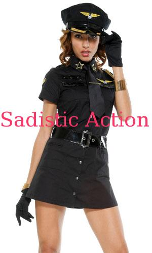【即納】Forplay Sexy Captain Girl Costume BK 【Forplay (ダンスウェア、衣装、コスチューム、小物)】【ハロウィンコスチューム】【FOR-CO-558448-BK】