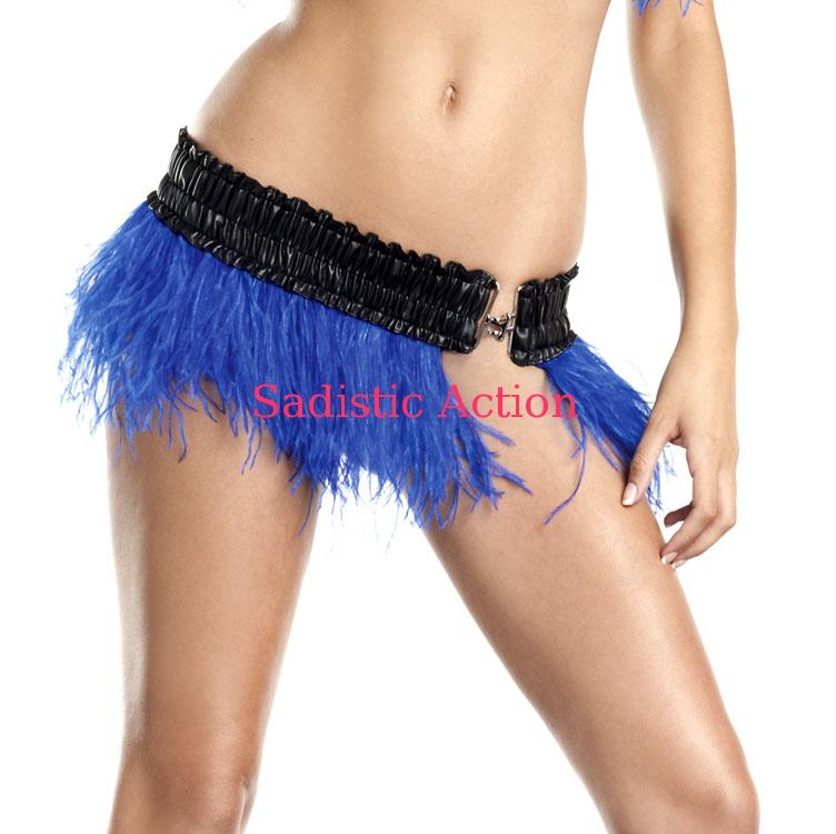 【即納】BE WICKED!Ostrich Feather Skirt R.BL 【BE WICKED!】【BE-DW-BW1500-R.BL】