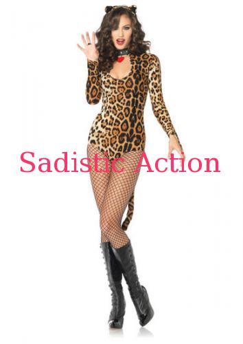 【即納】Leg Avenue 2 PC. Wicked Wildcat 【Leg Avenue (ストッキング、ランジェリー、衣装、コスチューム、小物)】【ハロウィンコスチューム】【LEG-CO-83784】