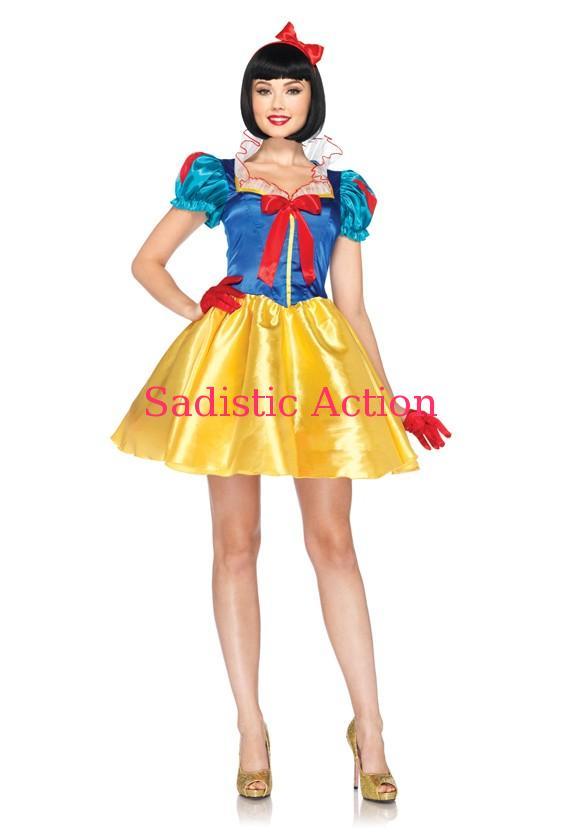 【即納】Leg Avenue 2 PC. Classic Snow White 【Leg Avenue (ストッキング、ランジェリー、衣装、コスチューム、小物)】【ハロウィンコスチューム】【正規ライセンスコスチューム】【LEG-C0-DP85126】