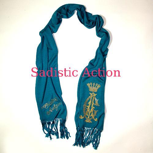 【即納】CHRISTIAN AUDIGIER CA Signature Knit Scarf 【CHRISTIAN AUDIGIER】【セール商品】【CA-ACC-CAW505-TUR】