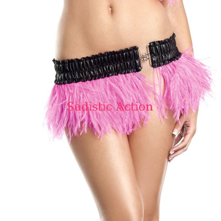 【即納】BE WICKED!Ostrich Feather Skirt HP 【BE WICKED!】【BE-DW-BW1500-H.PI】