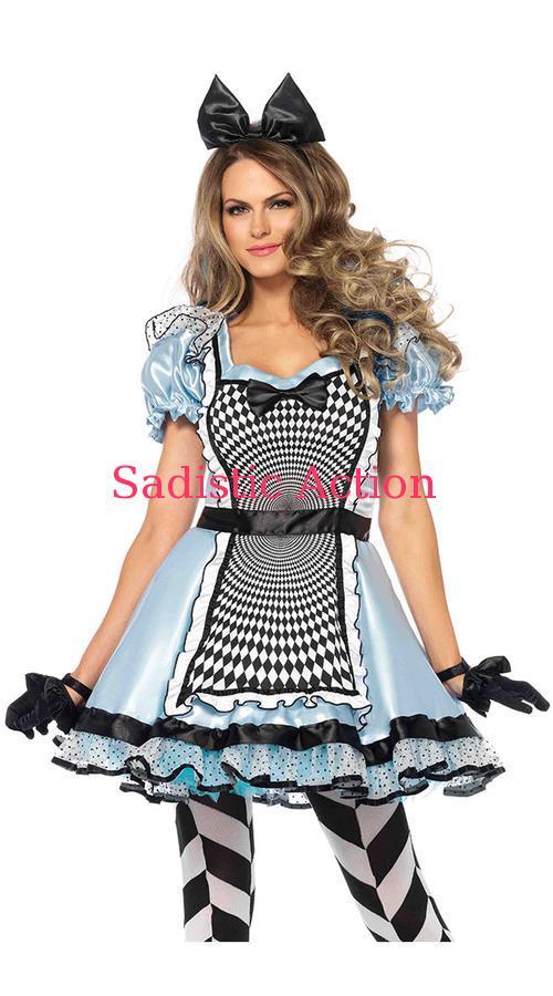 【即納】Leg Avenue Hypnotic Miss Alice Costume 【Leg Avenue (ストッキング、ランジェリー、衣装、コスチューム、小物)】【ハロウィンコスチューム】【LEG-CO-85533】