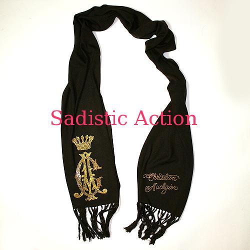 【即納】CHRISTIAN AUDIGIER CA Signature Knit Scarf 【CHRISTIAN AUDIGIER】【セール商品】【CA-ACC-CAW505-BR】
