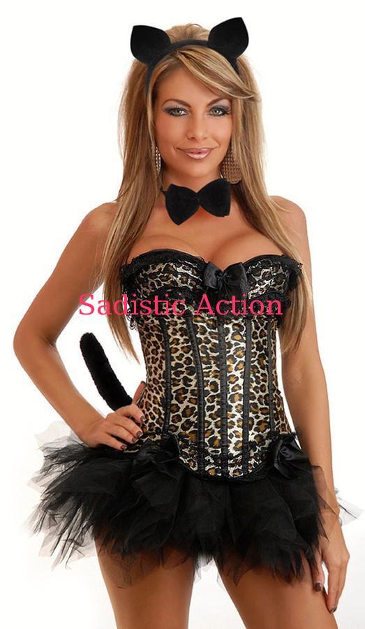 【即納】Daisy Corsets 6PC Burlesque Leopard Corset Costume 【ハロウィンコスチューム】【Daisy Corsets (コルセット、コスチューム、ランジェリー、衣装)】【DC-CO-1931】