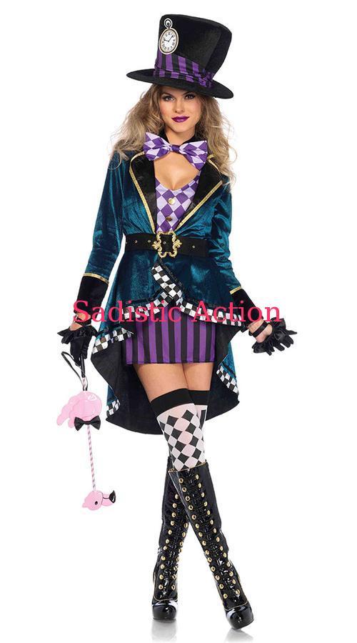 【即納】Leg Avenue Delightful Hatter Costume 【Leg Avenue (ストッキング、ランジェリー、衣装、コスチューム、小物)】【ハロウィンコスチューム】【LEG-CO-85592】