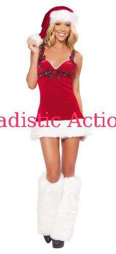【即納】ROMA 1PC Flirt Santa 【ROMA (ダンスウェア、衣装、コスチューム、小物)】【クリスマスコスチューム】【RM-CR-C141】