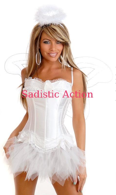 【即納】Daisy Corsets 5PC Sexy Angel Costume 【ハロウィンコスチューム】【Daisy Corsets (コルセット、コスチューム、ランジェリー、衣装)】【DC-CO-1546】