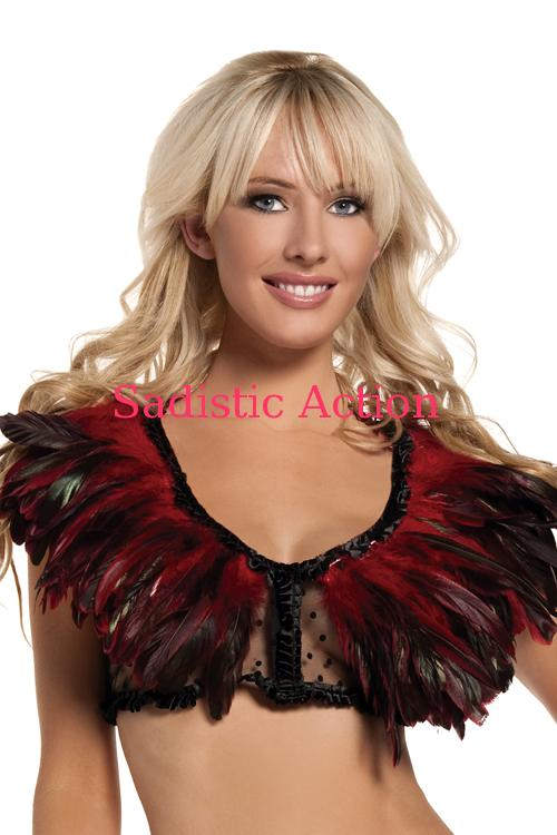 【即納】BE WICKED! Feather Top RED 【BE WICKED!】【BE-DW-BW1001-RED】