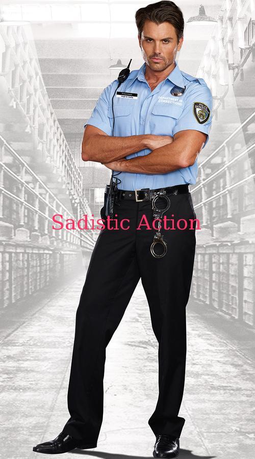 【即納】Dreamgir Men's Prison Guard Costume 【ハロウィンコスチューム】【Dreamgirl(コスチューム、ランジェリーー、フェティッシュ)】【DG-CO-9947】