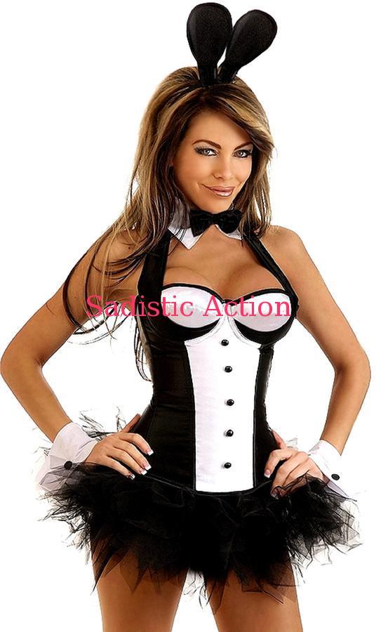 【即納】Daisy Corsets 6PC Sexy Tuxedo Bunny Costume 【ハロウィンコスチューム】【Daisy Corsets (コルセット、コスチューム、ランジェリー、衣装)】【DC-CO-1710】