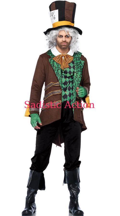 【即納】Leg Avenue Men's Classic Hatter Costume 【Leg Avenue (ストッキング、ランジェリー、衣装、コスチューム、小物)】【ハロウィンコスチューム】【LEG-CO-85317】