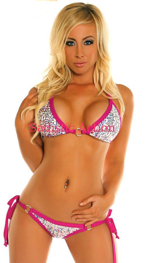 【即納】Daisy Corsets Confetti Sequin & Rhinestone Pucker Back Bikini 【Daisy Corsets (コルセット、コスチューム、ランジェリー、衣装)】【DC-DBW-167】