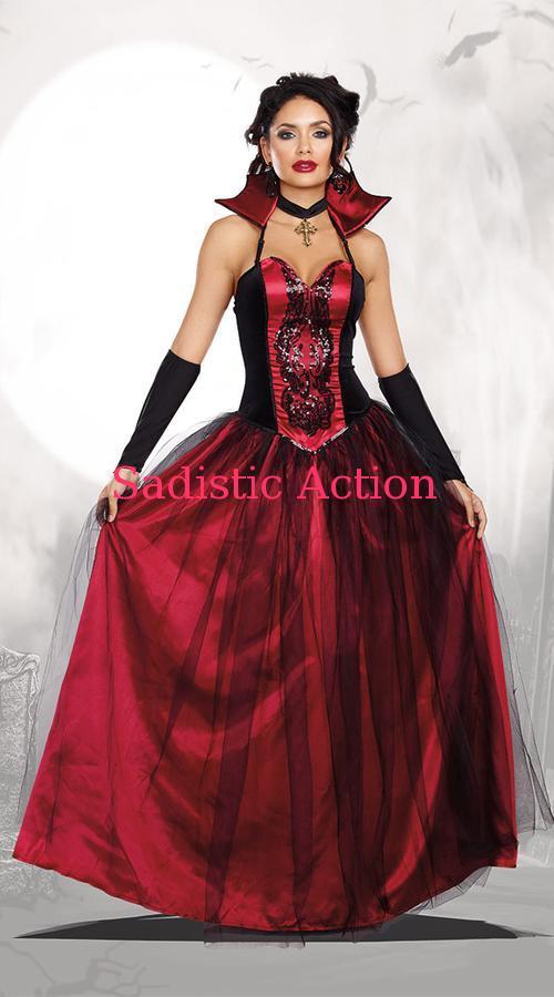 Dreamgirl Bloody Beautiful Vampire Queen Costume 返品不可 ヴァンパイアコスチューム カラー付きドレス 注 ドレス以外は 付いていません フェティッシュ costume DG-CO-10259 ハロウィンコスチューム 即納 在庫処分 featu コスチューム ランジェリーー