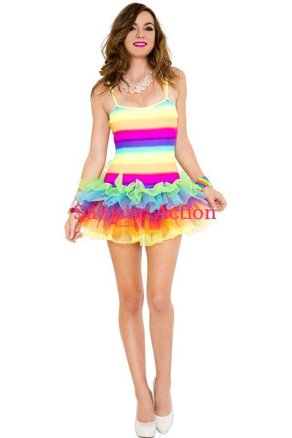 【即納】MUSIC LEGS Rainbow Tutu Dress 【コスチュームアクセサリー】【MUSIC LEGS (ストッキング、ランジェリー、コスチューム)】【チュチュ・ペチコート】【ML-ACC-70614】