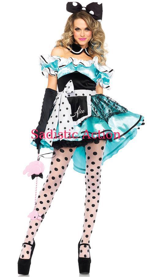 【即納】Leg Avenue Delightful Alice Costume 【Leg Avenue (ストッキング、ランジェリー、衣装、コスチューム、小物)】【ハロウィンコスチューム】【LEG-CO-85510】